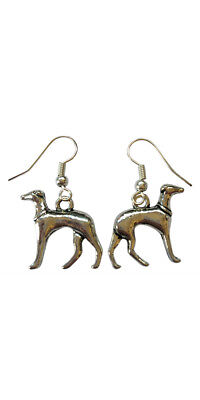 £2.75 • Buy Greyhound Earrings - Dog Present Gift - Silver Plated Hooks
