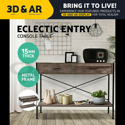 AU73.90 • Buy Artiss Wooden Hallway Console Table Entry Side Table Display Desk Industrial