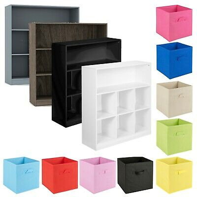£54.99 • Buy Wooden Wide 7 Cubed Cupboard Bookcase Storage Units Shelves 6 Drawers Baskets