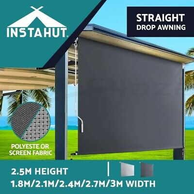 AU209 • Buy Instahut Outdoor Roller Blinds Roll Down Awning Retractable Straight Drop Screen