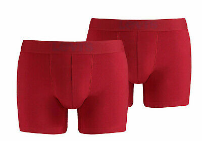 £14.99 • Buy Levis 2 Pack Boxer Short 200SF Briefs Red 072 Present Gift For Him Mens