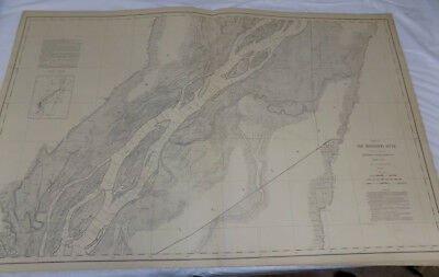 $ CDN87.47 • Buy 1894 Detailed Map Of MISSISSIPPI RIVER/Near BURLINGTON IA & OQUAWKA IL/24x38