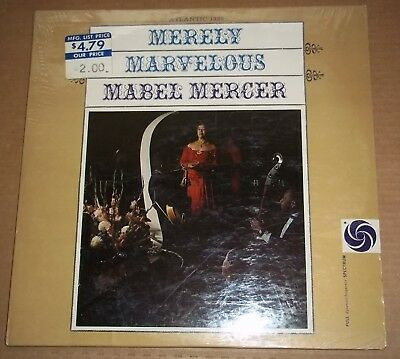 $15 • Buy MABEL MERCER - Merely Marvelous With Jimmy Lyon Trio - Atlantic 1322 SEALED