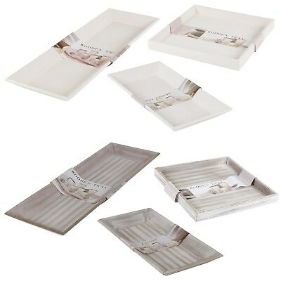 £7.99 • Buy Distressed Shabby Chic Tray Classic Square Rectangle Serving Platter Decor NEW