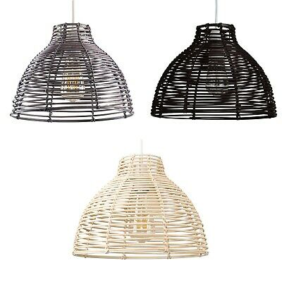 £19.99 • Buy Woven Design Ceiling Pendant Light Shades Cream / Brown / Grey Rattan Easy Fit
