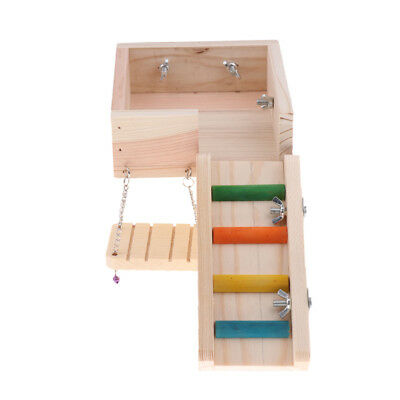 Wooden Swing Ladder Platform For Mouse, Chinchilla, Rat, Gerbil And Hamster • 11.71£
