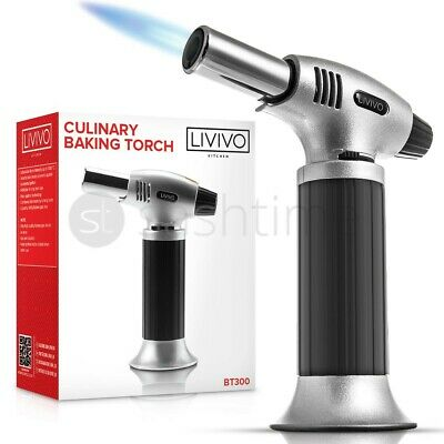 £9.95 • Buy Livivo Blow Torch Butane Refillable Lighter Culinary Cooking Baking Creme Brulee