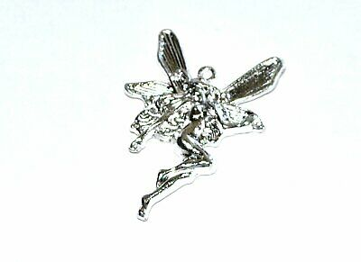 £2.45 • Buy 10 Silver Plated Large Fairy Craft Charms