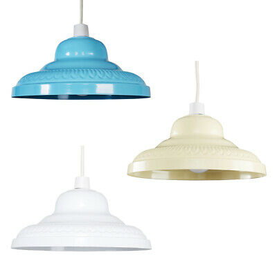 £5.99 • Buy Modern Metal Light Shades Ceiling Gloss Kitchen Lampshade Vintage Home Lighting