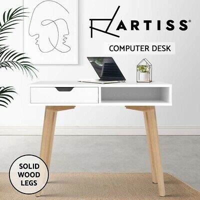 AU89.90 • Buy Artiss Office Computer Desk Study Table Storage Drawers Student Laptop White