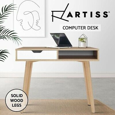 AU159.90 • Buy Artiss Office Computer Desk Study Table Storage Drawers Student Laptop Wood