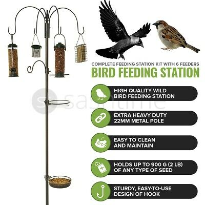 £229.95 • Buy Wild Bird Feeding Station For Hanging Feeders Garden Water Bath Table Seed Tray