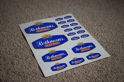 £4.35 • Buy Rothmans Race Car Vehicle Classic Logo Badge Racing Tuning Decals Stickers