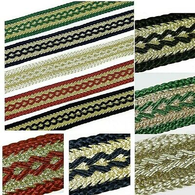 £2.95 • Buy Gimp Gold Braid Trim Upholstery , 22mm Wide Sold By The Metre Many Colours G1