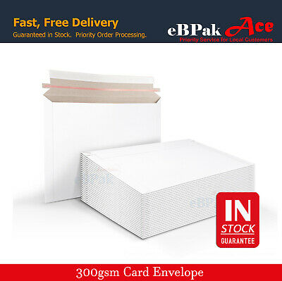 AU18.10 • Buy Card Mailer 300GSM White Card Envelope Tough Bag DL DLX 01 A5 C5 02 A4 B4 Size