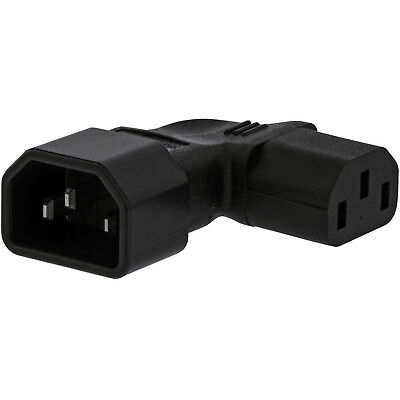 Right Angled IEC Adapter–Male Kettle (C14) To Female (C13)– Flat 10A Power Plug • 8.49£