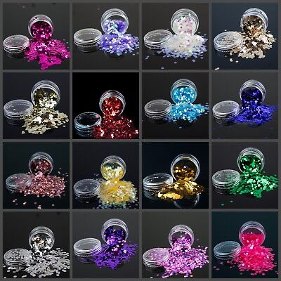 Chunky Festival Glitter Pots Bag For Face Body Eyeshadow Tattoo Party Nails Art • 1.49£