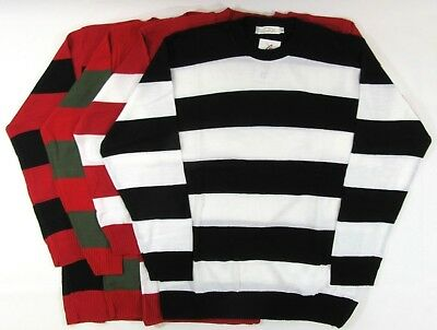 Adults Fancy Dress Jumper Striped Waldo Wally Red White Black Prisoner Convict • 16.99£