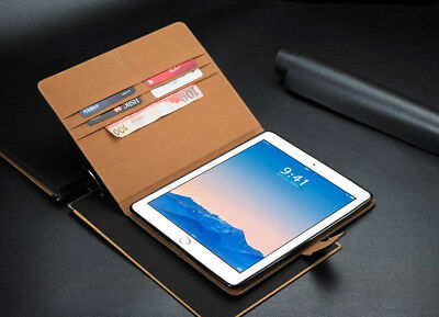 $13.98 • Buy Genuine Leather Flip Smart Case Cover For IPad Air 2 IPad 6 With Retina Display