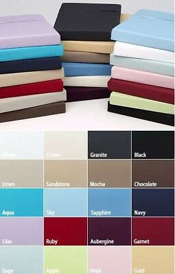 Extra Deep Fitted Sheet 16 /40CM 100% Egyptian Cotton 200TC All 5 Sizes 14 Color • 3.99£