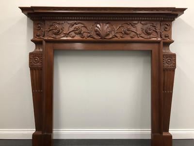 Restored Original Antique Arts And Crafts Mahogany Wood Fireplace Fire Surround • 1,200£