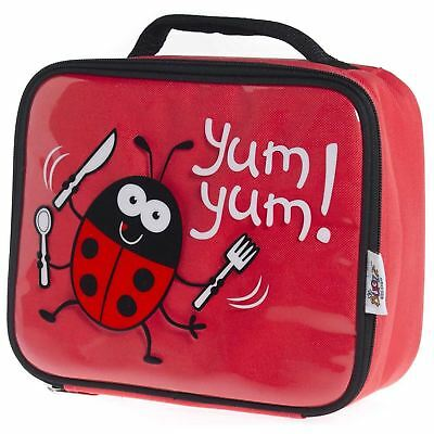 Promo Bugzz Kids Ladybug School Lunch Box Childrens Insulated Cooler Lunch Bag • 6.50£