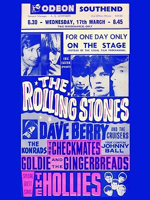 £5.50 • Buy Rolling Stones Southend 16  X 12  Photo Repro Concert Poster