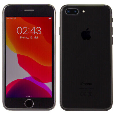 Apple IPhone 8 Plus ! 5.5 Zoll ! 64GB ! 12MP ! IOS ! Spacegrau ! Sehr Gut ! WOW • 297.84£