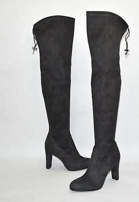 2b1007276ba Sam Edelman  Kent  Over The Knee Boot Gray Suede Size 8.5 •