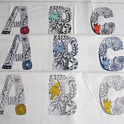 £9.35 • Buy Lettered By Robert Kaufman 100% Cotton Quilting Alphabet Panels - Colour Choice