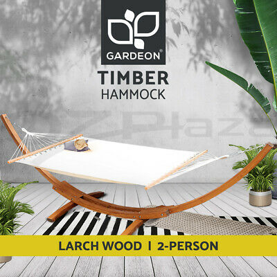 AU299 • Buy Gardeon Outdoor Furniture Lounge Double Hammock Bed Garden Timber Heartwood