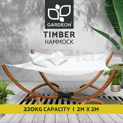 AU229 • Buy Gardeon Outdoor Furniture Lounge Wooden Double Bed Patio Timber Hammock 2 Person