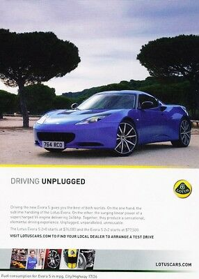 $ CDN7.33 • Buy 2011 2012 Lotus Evora S Original Advertisement Print Art Car Ad J998