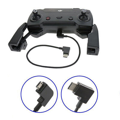 AU2.93 • Buy 90°Micro USB Cable Type C OTG For DJI Spark Mavic Pro Android Phone Tablet 25CM
