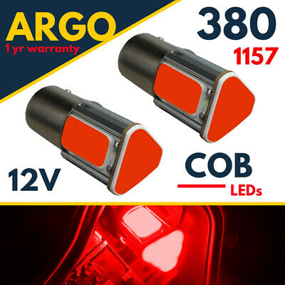 1157 Bay15d Led Red Bayonet 380 Car Cob Bulbs Fog Brake Stop Tail Light Smd 12v  • 3.95£