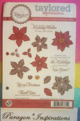 Taylored Expressions PEACEFUL POINSETTIA Christmas New Year Holiday Wishes • 34.95$