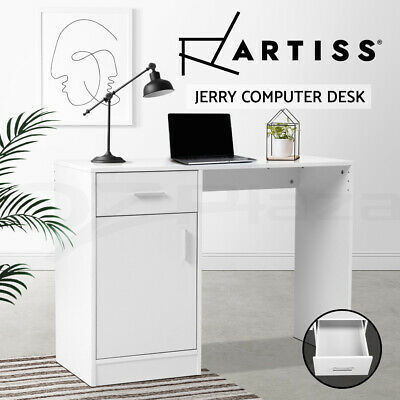 AU99.90 • Buy Artiss Computer Desk Office Table Drawers Storage Laptop Student Study Work Home