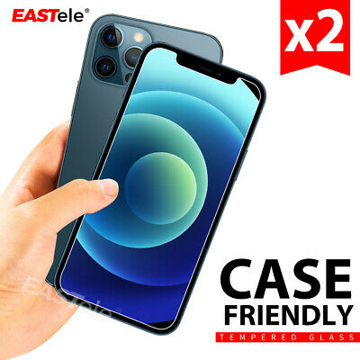AU5.95 • Buy 2xTempered Glass Screen Protector For Apple IPhone 12 11 Pro XS Max XR 8 Plus SE