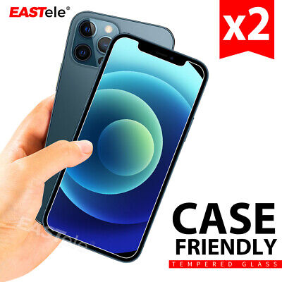 AU6.95 • Buy 2xTempered Glass Screen Protector For Apple IPhone 12 11 Pro XS Max XR 8 Plus SE