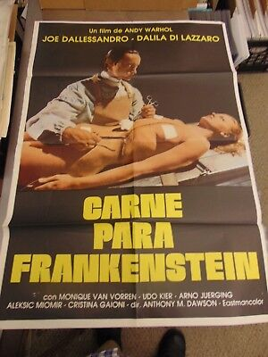 $350 • Buy Andy Warhol Frankenstein Spanish One-Sheet Movie Poster #N1983