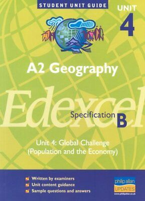 £2.88 • Buy A2 Geography Edexcel (B) Unit 4: Global Challenge (Population And The Economy),