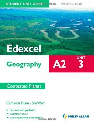 £1.90 • Buy Edexcel A2 Geography Student Unit Guide New Edition: Unit 3 Contested Planet,Su