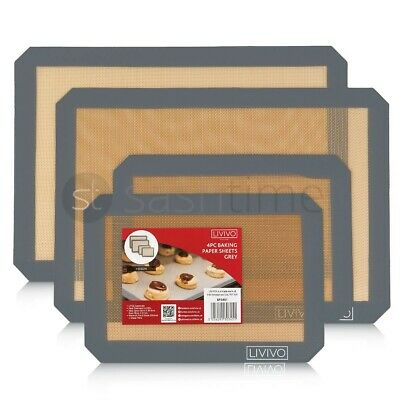 £10.95 • Buy Silicone Fibreglass Non Stick Baking Mat Sheet Tray Oven Liner Rolling Cake Mat