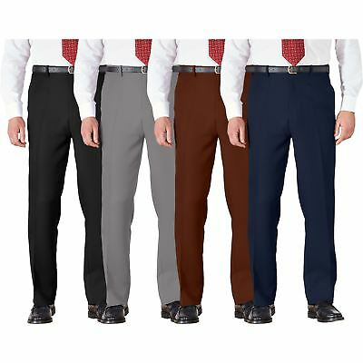 Mens Trousers Cotton BHS Brand Work Formal Active Stretch Waist Pockets 32-46 • 6.99£