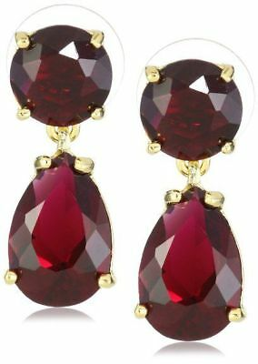 $ CDN84.96 • Buy Kate Spade AUTHENTIC PLAZA ATHENEE BERRY RUBY PINK DANGLE DOUBLE DROP EARRINGS