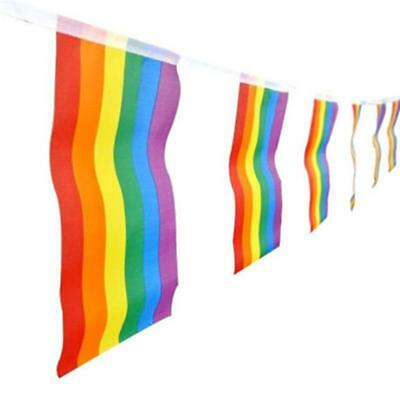 $ CDN5.50 • Buy Rainbow Flags Gay Pride Banner Striped Pennant LGBT Party Colorful Nice Q