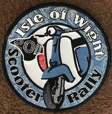 $3.89 • Buy Iow Isle Of Wight 2011 Embroidered Scooter Patch Last Few Remaining! Free Post
