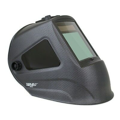 $ CDN131.38 • Buy MATTE CARBON FIBER Extra Large View Auto Darkening Welding Helmet With SIDE VIEW