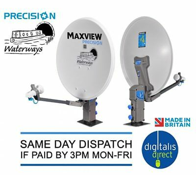 Maxview Precision Waterways Satellite Dish Twin LNB For Boats,Narrowboats,Barges • 199.99£