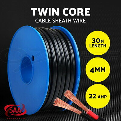 AU35.99 • Buy 4MM Electrical Cable Electric Twin Core Extension Wire 30M Car 450V 2 Sheath